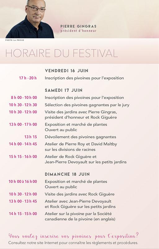 Horaire Du Festival