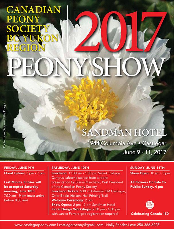 BC Yukon Region Peony Show