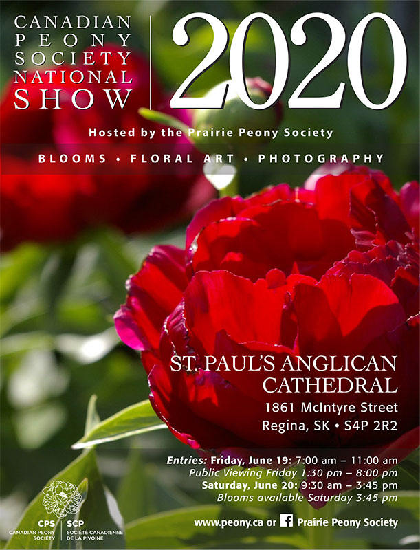 2020 National Peony Show Poster