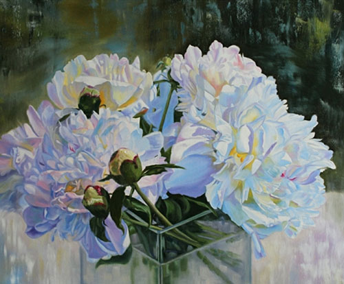 White Peonies IX by Kimberley Cook